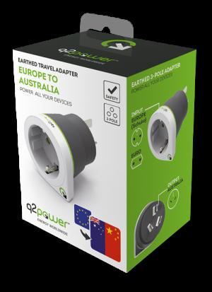 Q2Power reseadapter till Kina/Australien