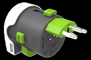 Multiadapter med USB - Typ J