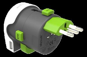 Multiadapter med USB - Typ L