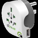 Reseadapter typ B med USB