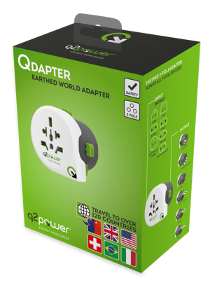 Qdapter reseadapter förpackning