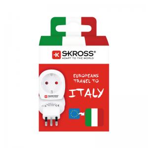 Förpackning av Skross adapter till Italien