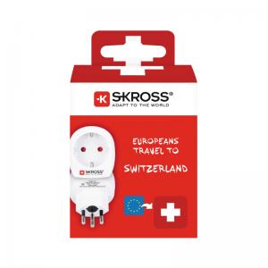 Skross reseadapter till Scweiz förpackning
